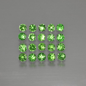 Green Tsavorite Garnet Gem - 0.1ct Diamond-Cut (ID: 399707)