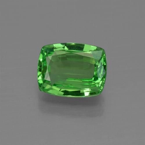 1.44 ct Cushion-Cut Electric Green Tsavorite Garnet Gemstone 7.69 mm x 6.1 mm (Product ID: 415341)