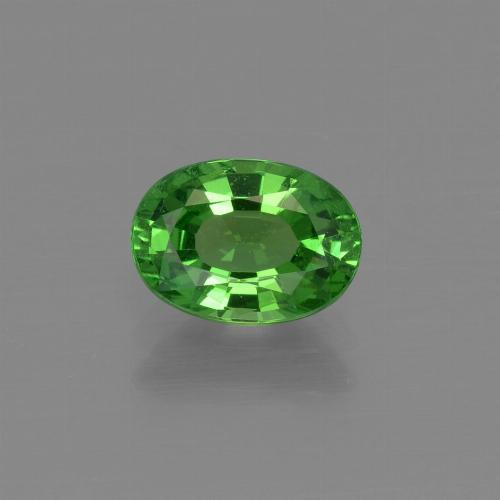 1.1ct Oval Facet Bright Green Tsavorite Garnet Gem (ID: 415344)