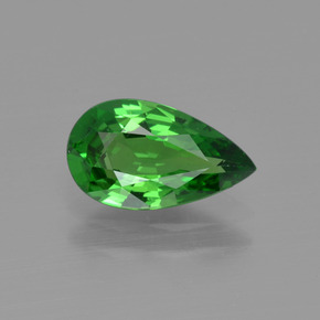Green Tsavorite Garnet Gem - 1.3ct Pear Facet (ID: 415346)