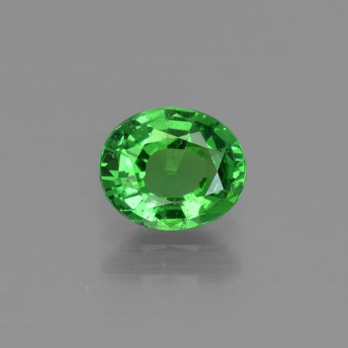 1ct Oval Facet Electric Green Tsavorite Garnet Gem (ID: 415352)