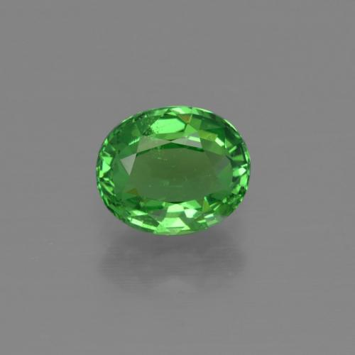 1.2ct Oval Facet Electric Green Tsavorite Garnet Gem (ID: 415354)