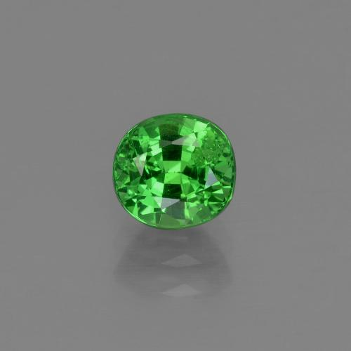 1ct Oval Facet Electric Green Tsavorite Garnet Gem (ID: 415355)
