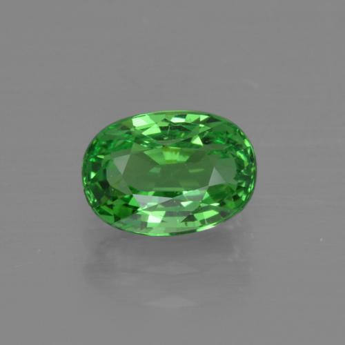 1.2ct Oval Facet Medium Green Tsavorite Garnet Gem (ID: 415389)