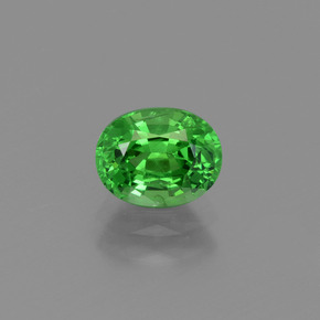Electric Green Tsavorite Garnet Gem - 1ct Oval Facet (ID: 415392)