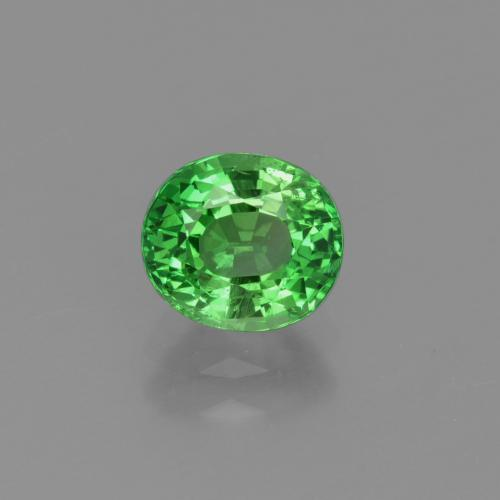 1.2ct Oval Facet Medium Green Tsavorite Garnet Gem (ID: 415393)