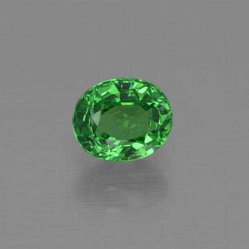 1.2ct Oval Facet Bright Green Tsavorite Garnet Gem (ID: 415398)