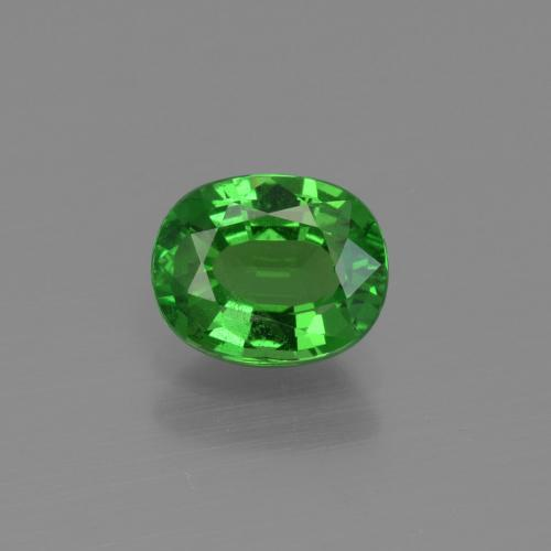 1.1ct Oval Facet Electric Green Tsavorite Garnet Gem (ID: 415399)