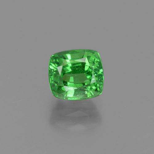 1.18 ct Cushion-Cut Green Tsavorite Garnet Gemstone 5.80 mm x 5.3 mm (Product ID: 415400)