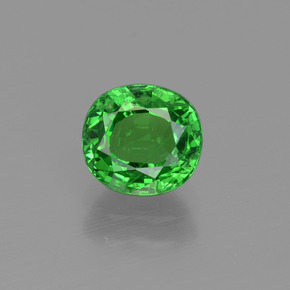 Bright Green Tsavorite Garnet Gem - 1.5ct Oval Facet (ID: 415401)