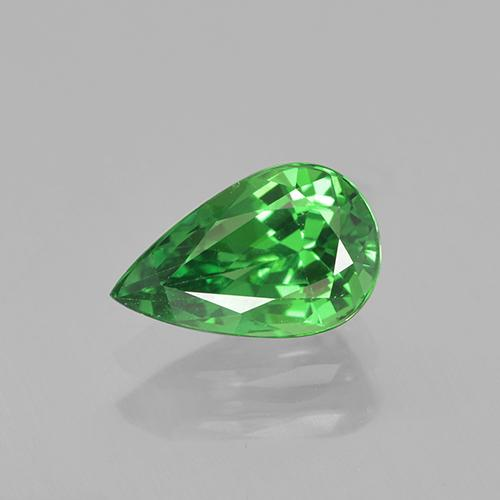 1.17 ct Pear Facet Bright Green Tsavorite Garnet Gem 8.47 mm x 5.3 mm (Photo A)