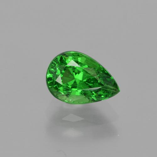 Green Tsavorite Garnet Gem - 1.2ct Pear Facet (ID: 415691)