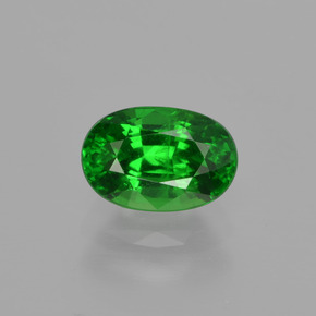 1.2ct Oval Facet Bright Forest Green Tsavorite Garnet Gem (ID: 415692)