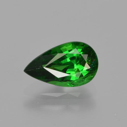 1.18 ct Pear Facet Green Tsavorite Garnet Gemstone 8.76 mm x 5.2 mm (Product ID: 415695)