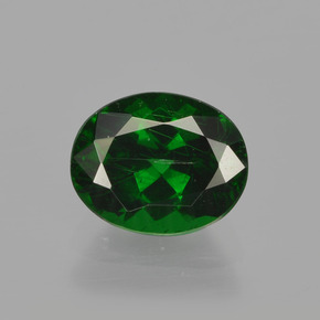 1.5ct Oval Facet Dark Green Tsavorite Garnet Gem (ID: 415737)
