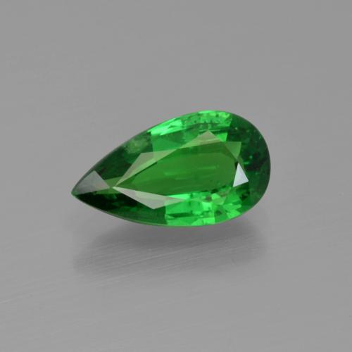 1.73 ct Pear Facet Green Tsavorite Garnet Gemstone 10.52 mm x 5.9 mm (Product ID: 415810)