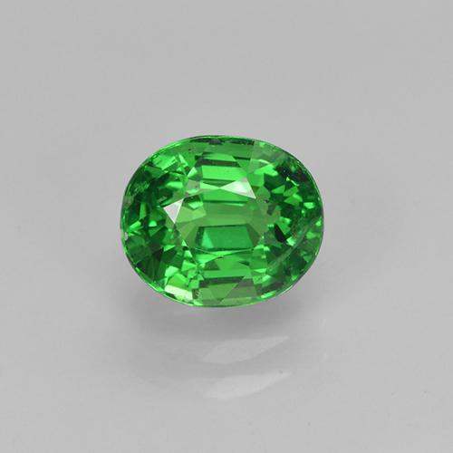 1.3ct Oval Facet Medium Green Tsavorite Garnet Gem (ID: 415814)