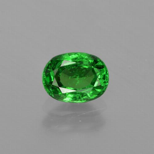 1ct Oval Facet Medium Green Tsavorite Garnet Gem (ID: 415864)
