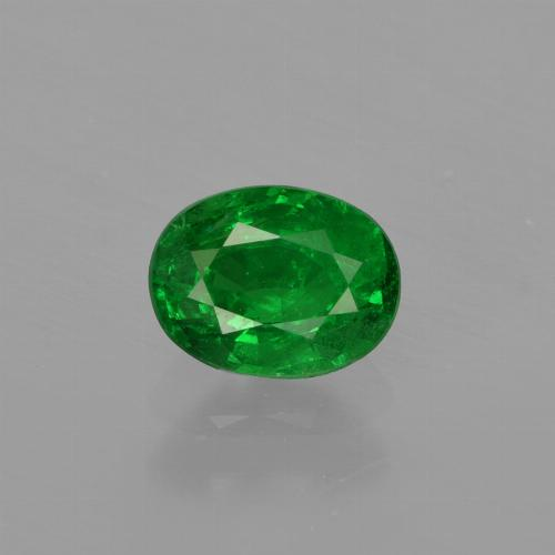 0.8ct Oval Facet Medium Green Tsavorite Garnet Gem (ID: 415866)