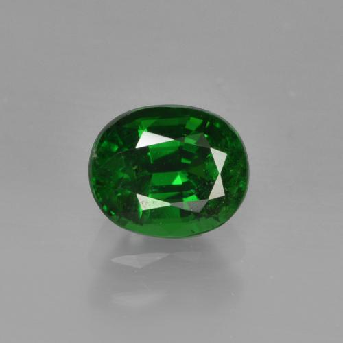 1ct Oval Facet Deep Green Tsavorite Garnet Gem (ID: 415867)