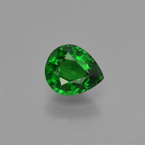 0.88 ct Pear Facet Dark Green Tsavorite Garnet Gemstone 6.39 mm x 5.5 mm (Product ID: 415869)