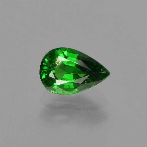 1ct وجه كمثرى Bright Forest Green عقيق تسافوريت حجر كريم (ID: 415871)