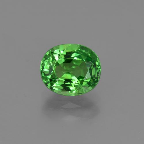 1.2ct Oval Facet Medium Green Tsavorite Garnet Gem (ID: 422627)