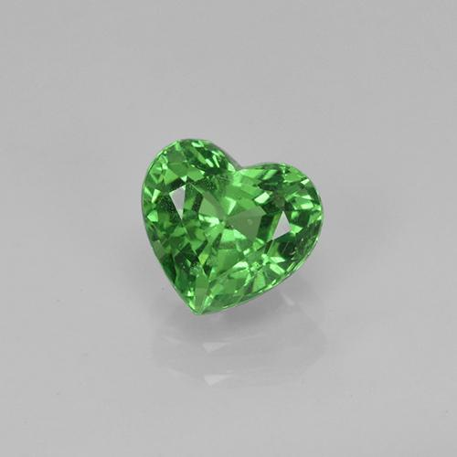 Green Tsavorite Garnet Gem - 1.3ct Heart Facet (ID: 422629)