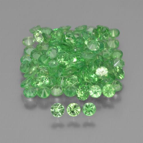 Green Tsavorite Garnet Gem - 0.1ct Diamond-Cut (ID: 451553)