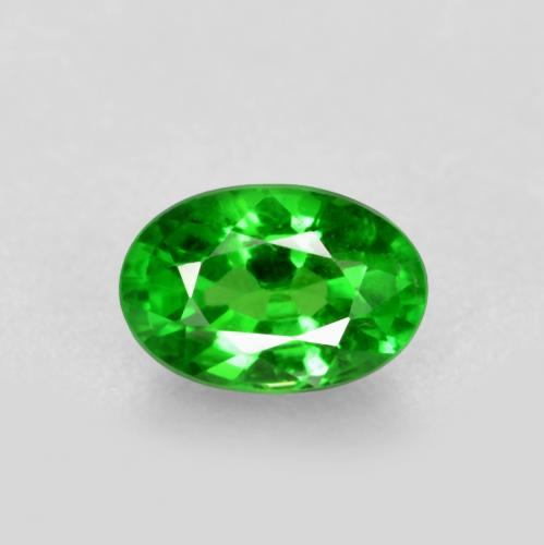 0.6ct Oval Facet Bright Forest Green Tsavorite Garnet Gem (ID: 467485)