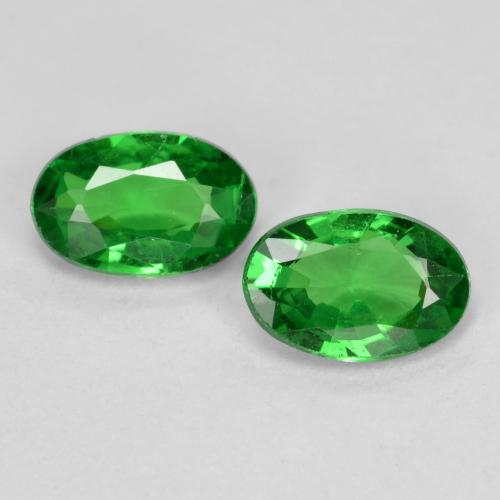 0.5ct Oval Facet Bright Green Tsavorite Garnet Gem (ID: 467690)