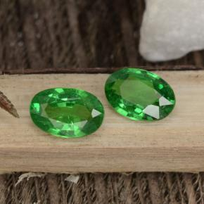 0.5ct Oval Facet Electric Green Tsavorite Garnet Gem (ID: 467943)