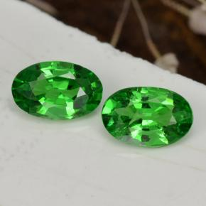 Intense Green Tsavorite Garnet Gem - 0.4ct Oval Facet (ID: 468815)