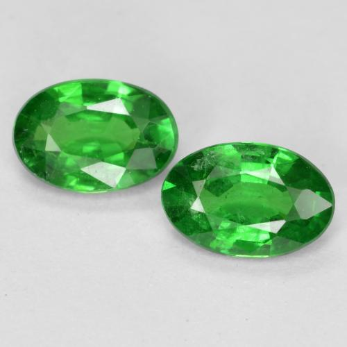 0.4ct Oval Facet Bright Green Tsavorite Garnet Gem (ID: 468817)