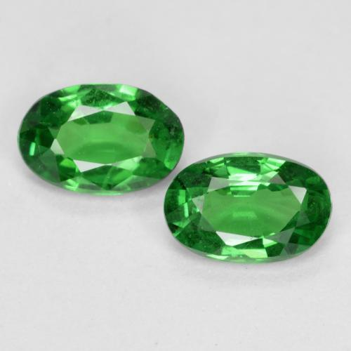 0.4ct Oval Facet Intense Green Tsavorite Garnet Gem (ID: 468821)