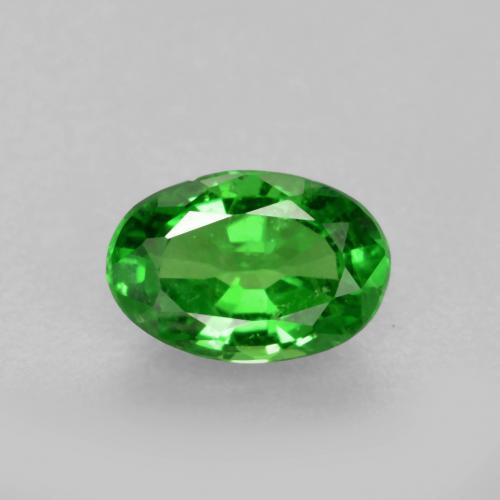 0.5ct Oval Facet Bright Green Tsavorite Garnet Gem (ID: 468855)