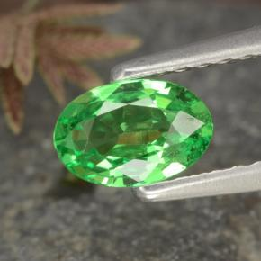 0.5ct Oval Facet Medium Green Tsavorite Garnet Gem (ID: 468856)