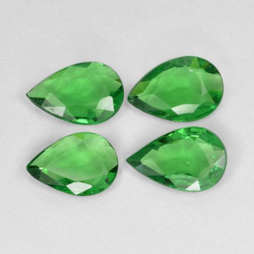 0.3ct Poire facette Medium Green Grenat Tsavorite gemme (ID: 468921)