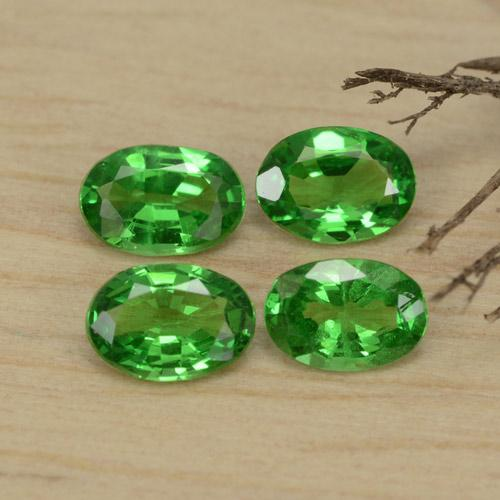 0.3ct Oval Facet Medium Green Tsavorite Garnet Gem (ID: 468925)