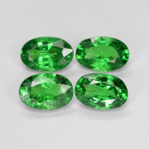 0.5ct Oval Facet Medium Green Tsavorite Garnet Gem (ID: 468927)