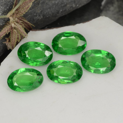 0.4ct Oval Facet Bright Green Tsavorite Garnet Gem (ID: 468929)