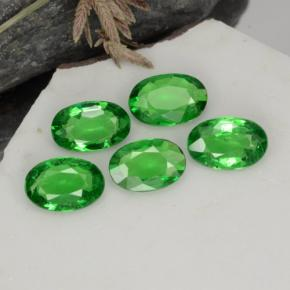 0.4ct Oval Facet Medium Green Tsavorite Garnet Gem (ID: 468931)