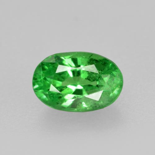 0.6ct Oval Facet Medium Green Tsavorite Garnet Gem (ID: 468934)