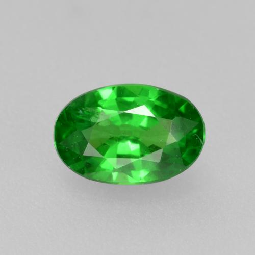 0.5ct Oval Facet Bright Forest Green Tsavorite Garnet Gem (ID: 469023)