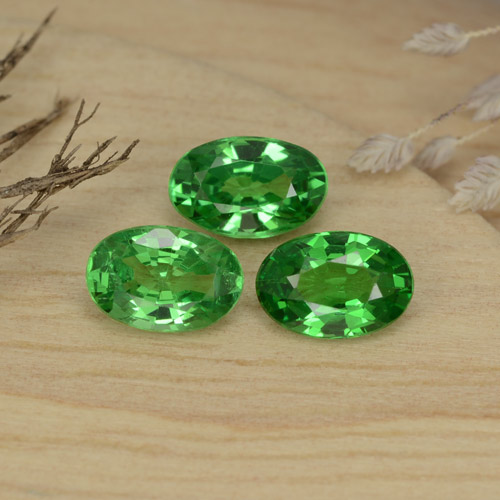0.5ct Oval Facet Medium Green Tsavorite Garnet Gem (ID: 469032)