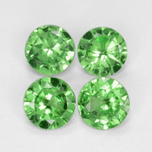 Green Tsavorite Garnet Gem - 0.3ct Diamond-Cut (ID: 473235)