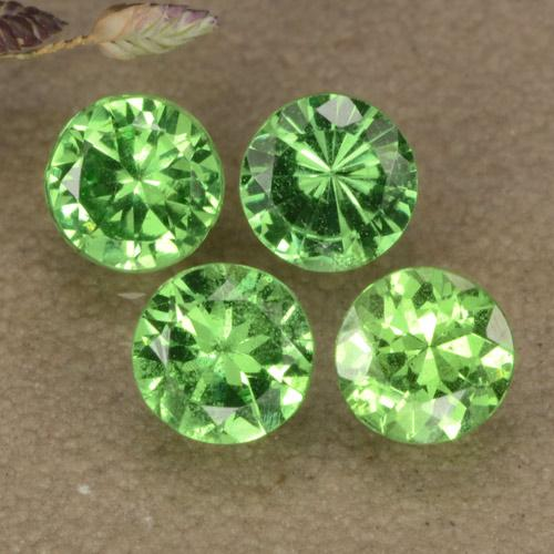 Green Tsavorite Garnet Gem - 0.3ct Diamond-Cut (ID: 473641)