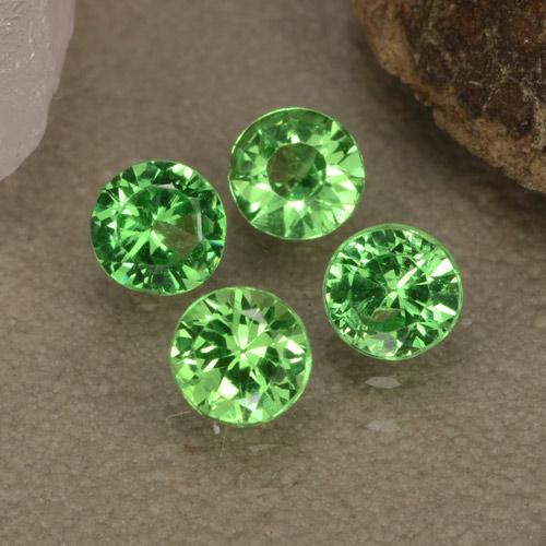 Green Tsavorite Garnet Gem - 0.2ct Diamond-Cut (ID: 473796)