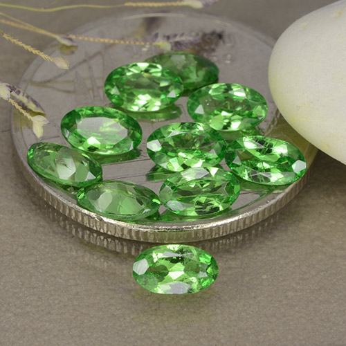 0.2ct Oval Facet Medium Green Tsavorite Garnet Gem (ID: 481870)