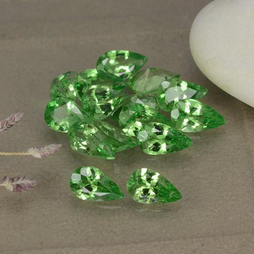 Green Tsavorite Garnet Gem - 0.2ct Pear Facet (ID: 481914)